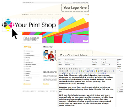Online print shop, printer website and websites for printers